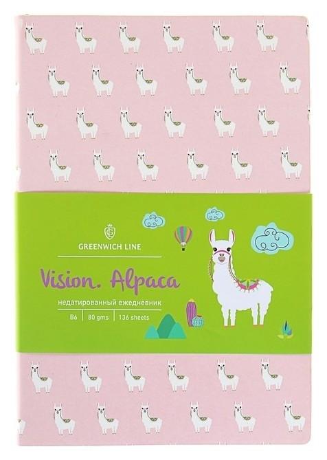 Ежедневник недатированный В6, 136 листов Greenwich Line Vision. Alpaca, искусственная кожа, тонированный блок, цветной срез Greenwich line