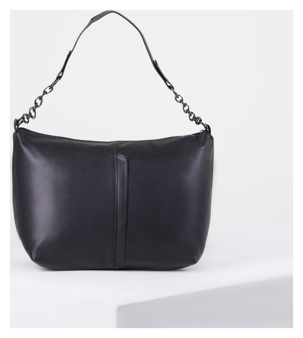 Сумка женская, отдел на молнии, наружный карман, цвет чёрный L-Craft