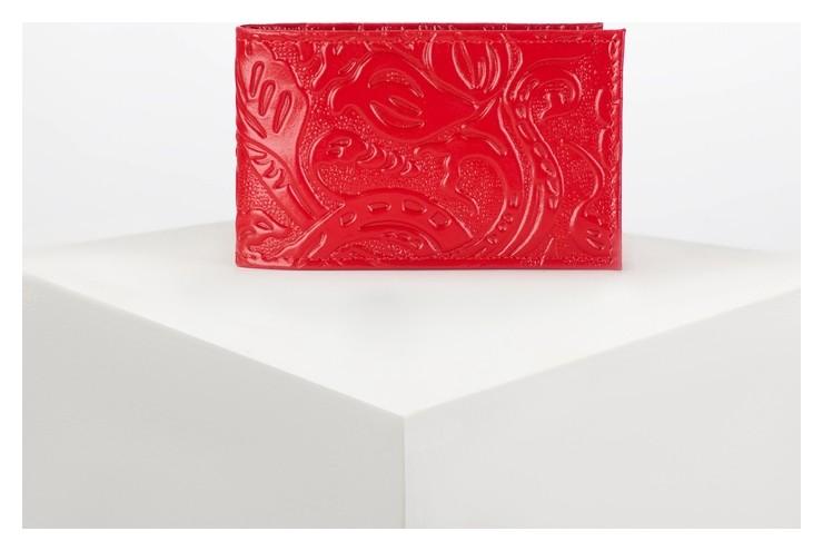 Визитница горизонтальная, 1 ряд, 18 листов, цвет красный Cayman