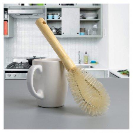 Ёршик для посуды 23,5×7,5×3 см, овал, деревянная ручка  Доляна