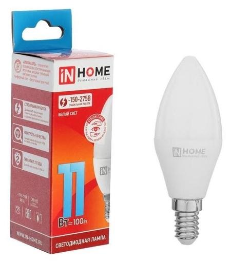 Лампа светодиодная IN Home Led-свеча-vc, е14, 11 Вт, 230 В, 4000 К, 990 Лм  INhome