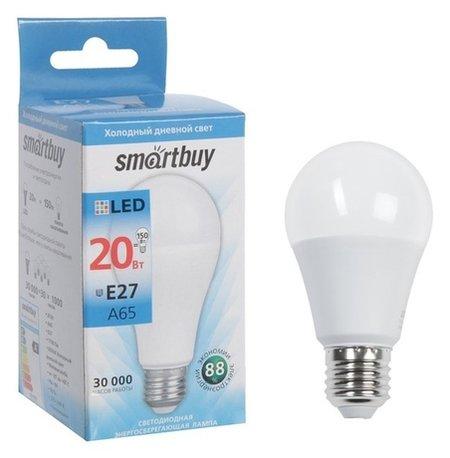 Лампа Cветодиодная Smartbuy, A65, E27, 20 Вт, 6000 К, холодный белый свет  Smartbuy