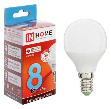 Лампа светодиодная IN Home Led-шар-vc, е14, 8 Вт, 230 В, 4000 К, 720 Лм  INhome