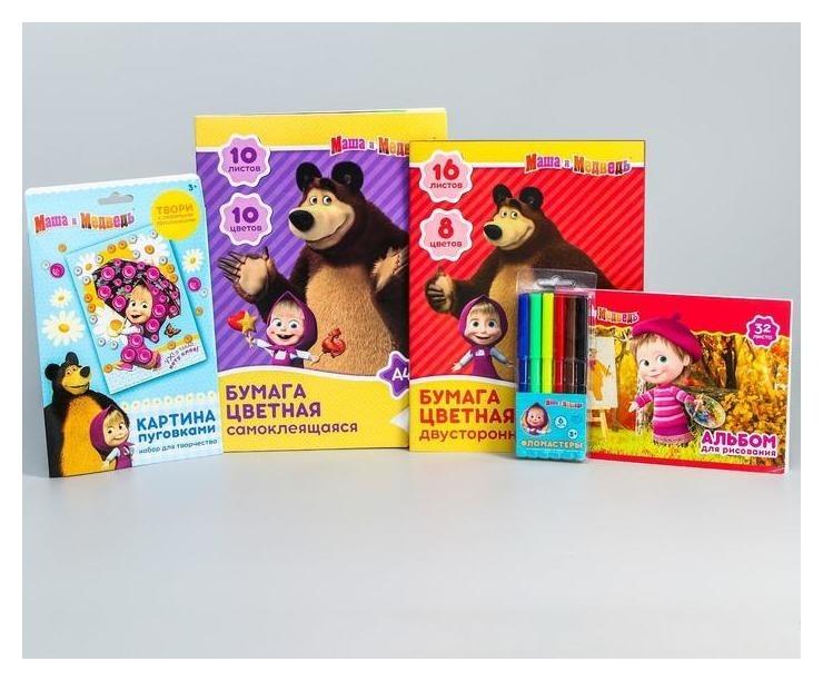 Набор для творчества Маша, маша и медведь, 5 предметов Маша и Медведь