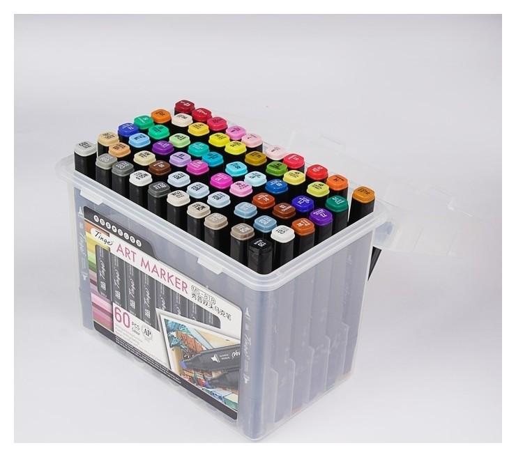 Набор маркеров профессиональных двусторонних Superior Tinge, чёрный корпус, 60 шт., 60 цветов Ms-818 КНР