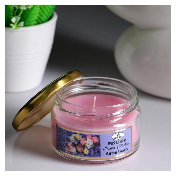 Свеча в банке Garden Flowers, ароматизированная, 367 г NNB