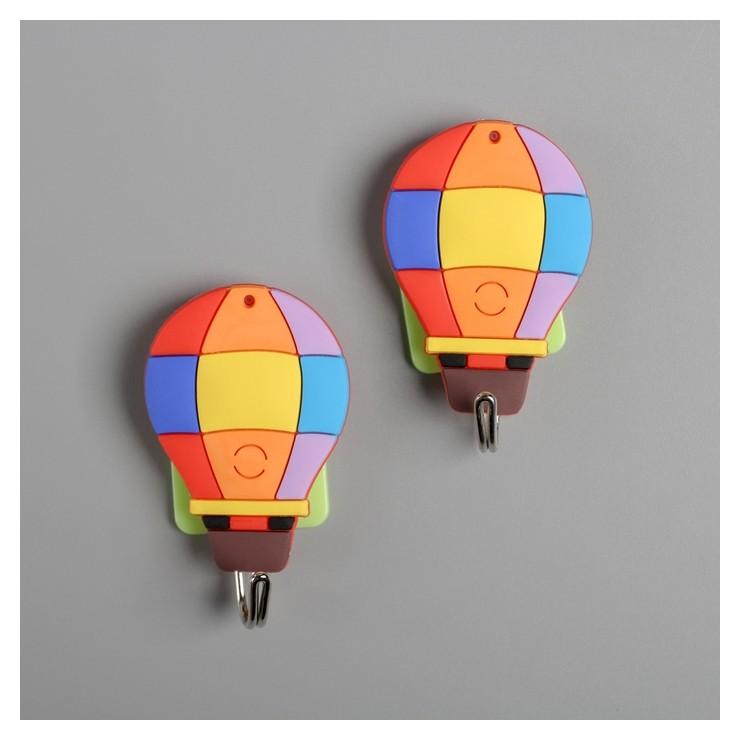 Набор крючков на липучке «Воздушный шар», 2 шт NNB