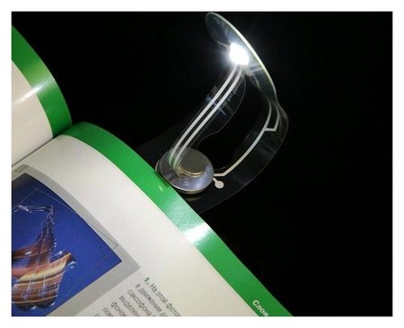 Лампа для чтения, 1 Led, от батарейки, 6500k, белый NNB