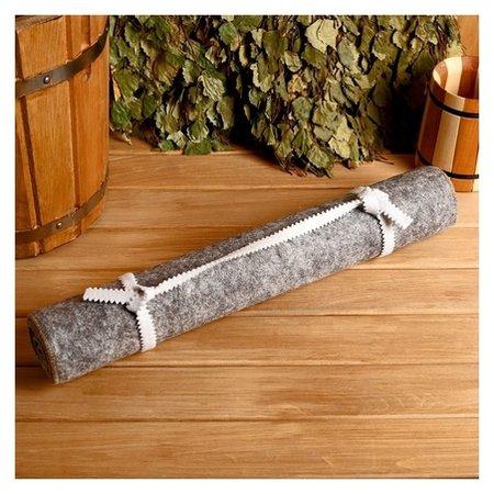 Лежак для бани Классический, войлок, серый, 150х50см NNB