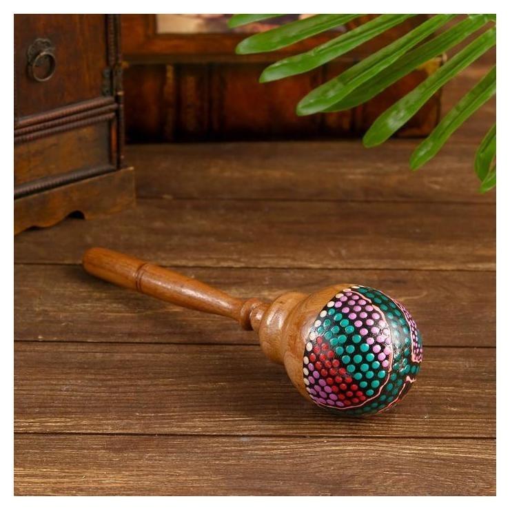 Музыкальный инструмент Маракас разноцветный 27х7х7 см NNB