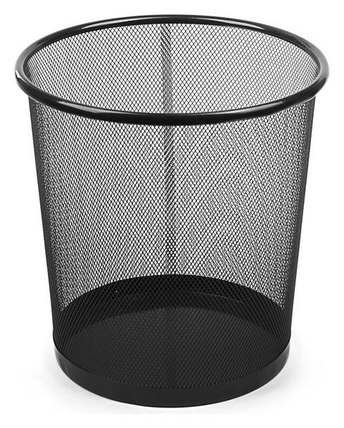 Корзина для бумаг, 15 литров, чёрная металлическая сетка  Calligrata