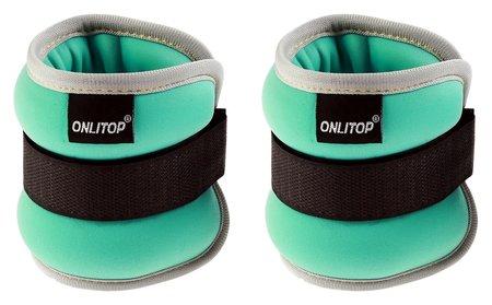 Утяжелитель неопреновый 0,25 кг (Вес пары 0,5 кг), цвет мятный  Onlitop