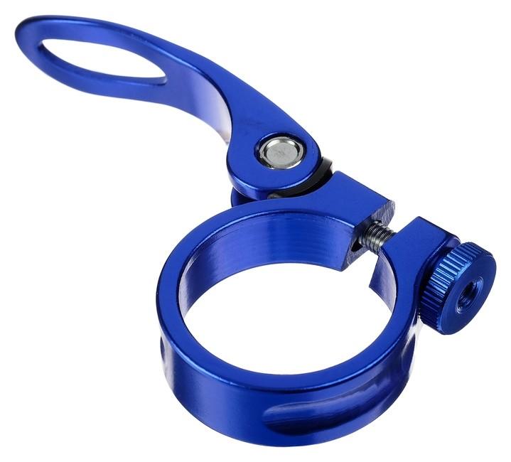 Хомут подседельный Blf-z1 34,9 мм, с эксцентриком, алюминий, цвет синий  NNB