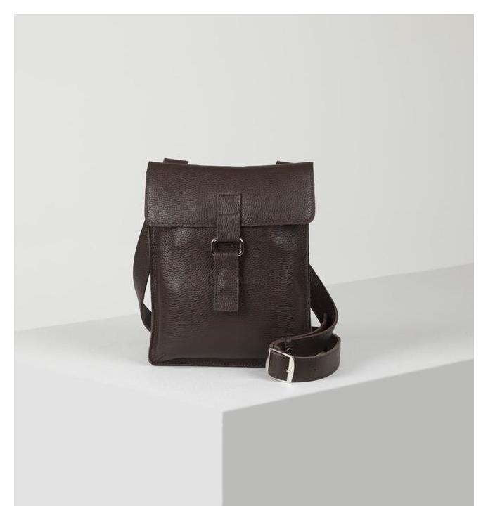 Сумка мужская, отдел на клапане, наружный карман, цвет коричневый Igermann