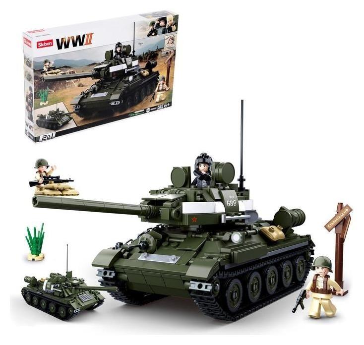 Конструктор армия «Боевой танк», 687 деталей Sluban