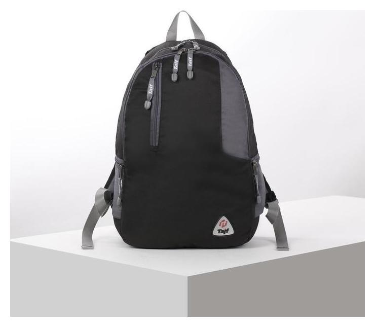Рюкзак туристический, 28 л, отдел на молнии, наружный карман, цвет чёрный/серый  Taif