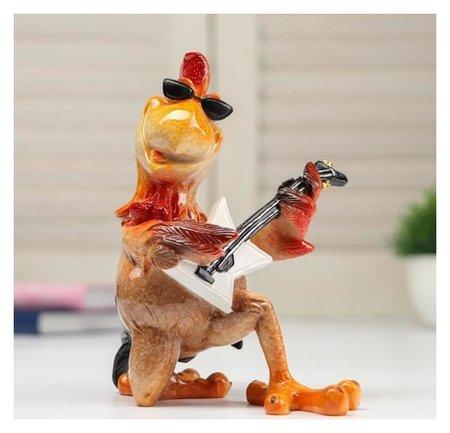 Сувенир полистоун лак Петух гитарист 14,5х11х14,8 см NNB