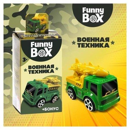 Набор для детей Funny Box Военная техника: карточка, фигурка, лист наклеек  Zabiaka