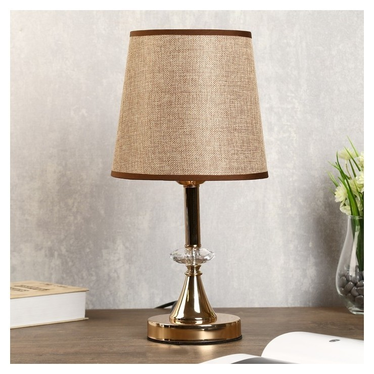 Лампа настольная Севилья 1х40вт Е27 золото 21х21х36 см. КНР