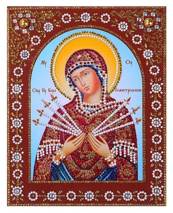 Картина фигурными стразами Пресвятая богородица. семистрельная 20×25см КНР