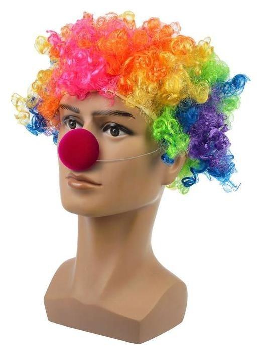 Набор клоуна: парик объёмный цветной, носик NNB
