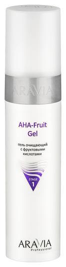 Гель очищающий с фруктовыми кислотами AHA fruit gel  Aravia Professional