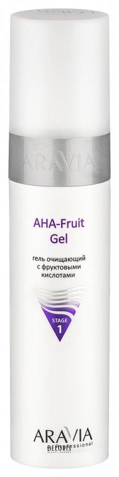 Купить Гель для лица Aravia Professional, Гель очищающий с фруктовыми кислотами AHA fruit gel, Россия