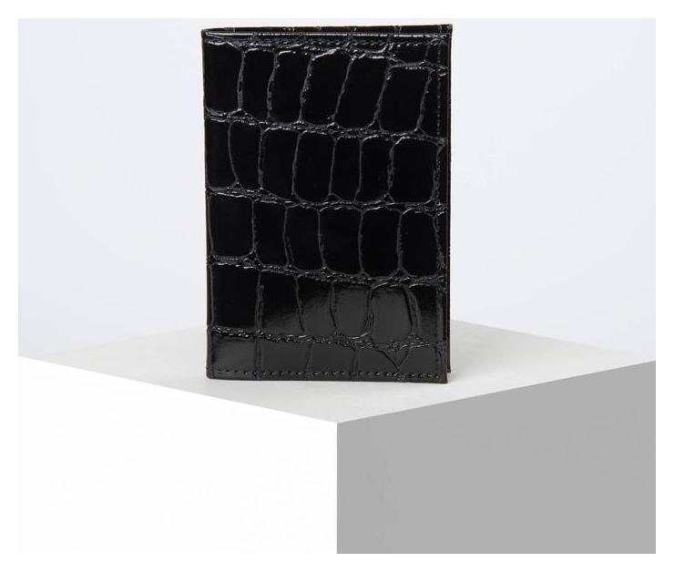 Обложка для автодокументов, скат, цвет чёрный Cayman