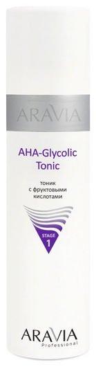 Тоник с фруктовыми кислотами AHA glycolic tonic  Aravia Professional