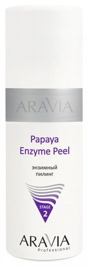 Энзимный пилинг для лица Papaya enzyme peel  Aravia Professional