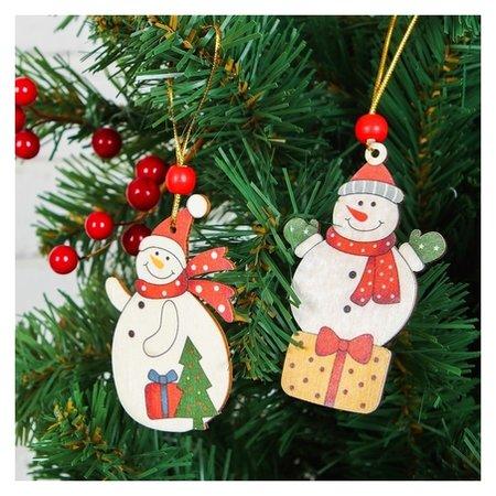 """Подвеска новогодняя """"Снеговик с подарочками""""  NNB"""