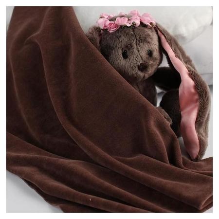 Отрез трикотажный для рукоделия, велюр, цвет коричневый, 45 × 50 см Страна Карнавалия