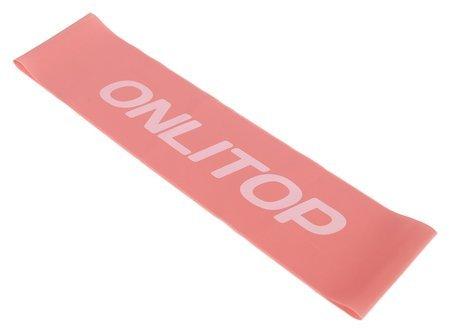 Фитнес-резинка, 30,5 х 7,6 х 0,35 см, нагрузка до 3 кг, цвет розовый  Onlitop