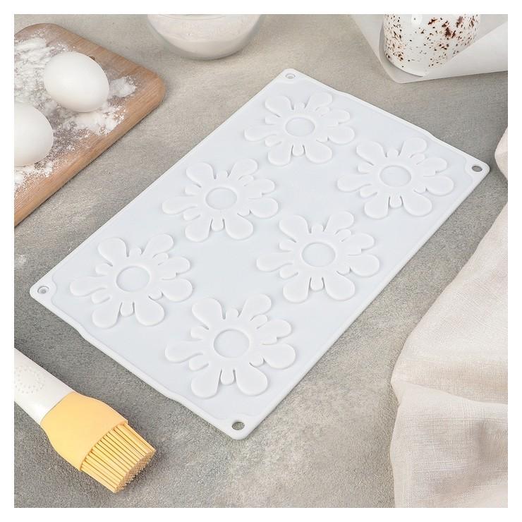 Форма для муссовых десертов и выпечки «Клякса», 28×18,5 см, цвет белый Доляна
