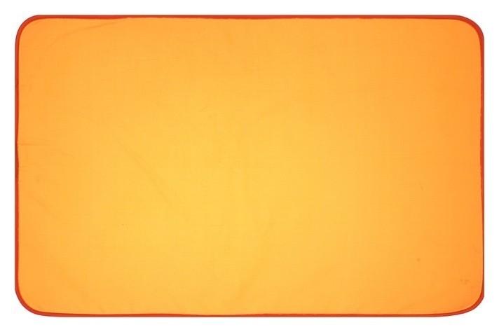 Накладка на стол текстильная водоотталкивающая (Складная) 700 х 450 мм, стандарт, кн-2-45, 200d, оранжевый Оникс