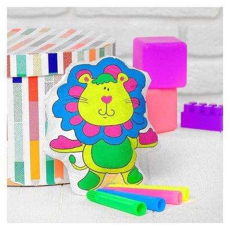 Игрушка-раскраска «Львенок» (Без маркеров) в пакете  Школа талантов
