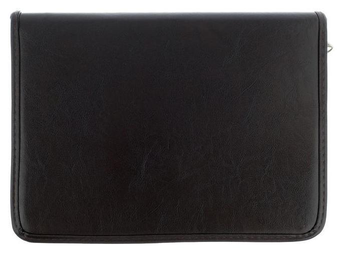 Пaпка деловая, искусственная кожа, 360х260х30 мм, люкс, коричневая Канцбург