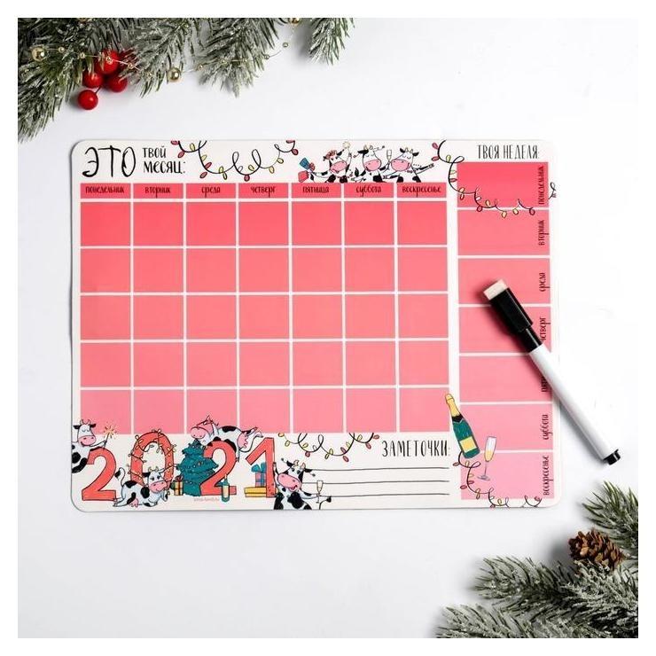 Магнитный планинг с фломастером «Это твой месяц» NNB