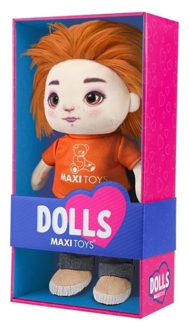 Мягкая игрушка «Кукла бориска» в футболке и джинсах, 35 см Jack and Lin