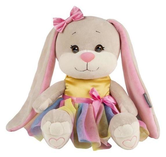 Мягкая игрушка «Зайка Lin» в радужном платье, 25 см Jack and Lin
