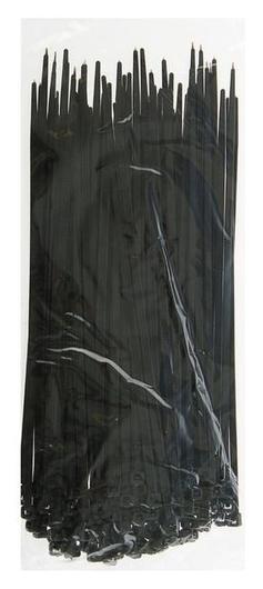 Хомут-стяжки пластиковые, 3.6х200 мм, чёрные, упаковка 100 шт.  NNB