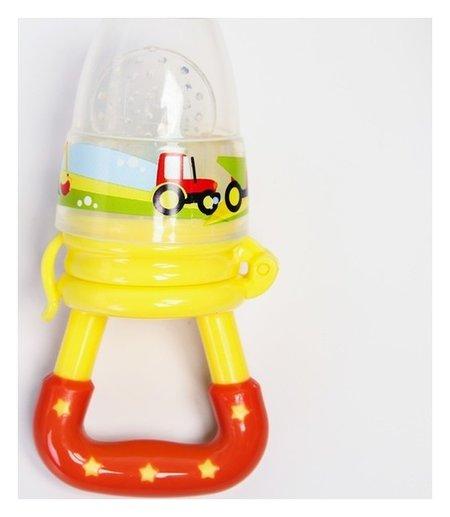 Ниблер «Наше сокровище», с силиконовой сеточкой, цвет жёлтый/оранжевый Mum&baby