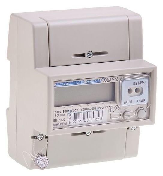 Счётчик электроэнергии однофазный, многотарифный СЕ 102м R5 145 J  Энергомера
