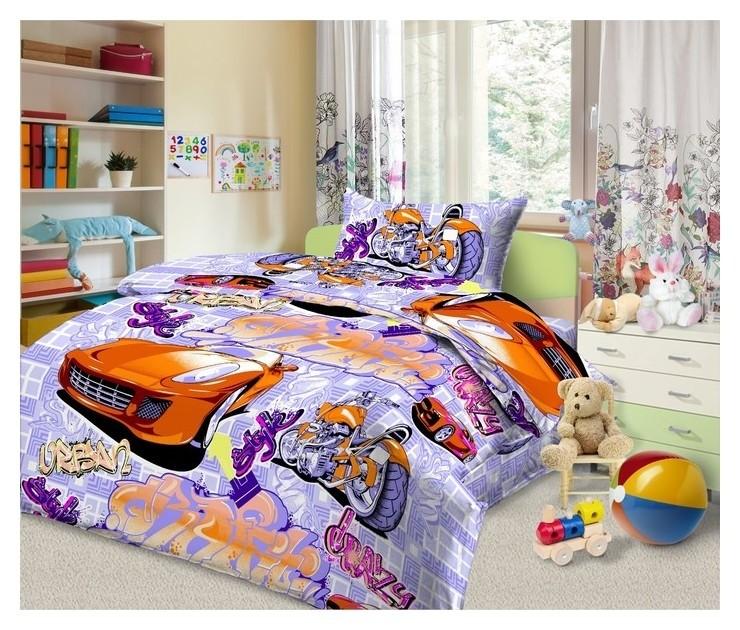 Детское постельное бельё 1,5 сп. «Граффити»  Monro