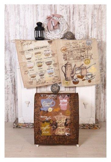 Набор полотенец кофейня 45х60см- 3 шт (В пакете) DomoVita