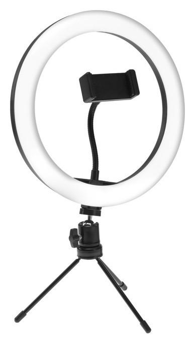Светодиодная лампа для селфи Luazon Ck-75, 26 см, 20 Вт, штатив 15 см, 3 режима  LuazON