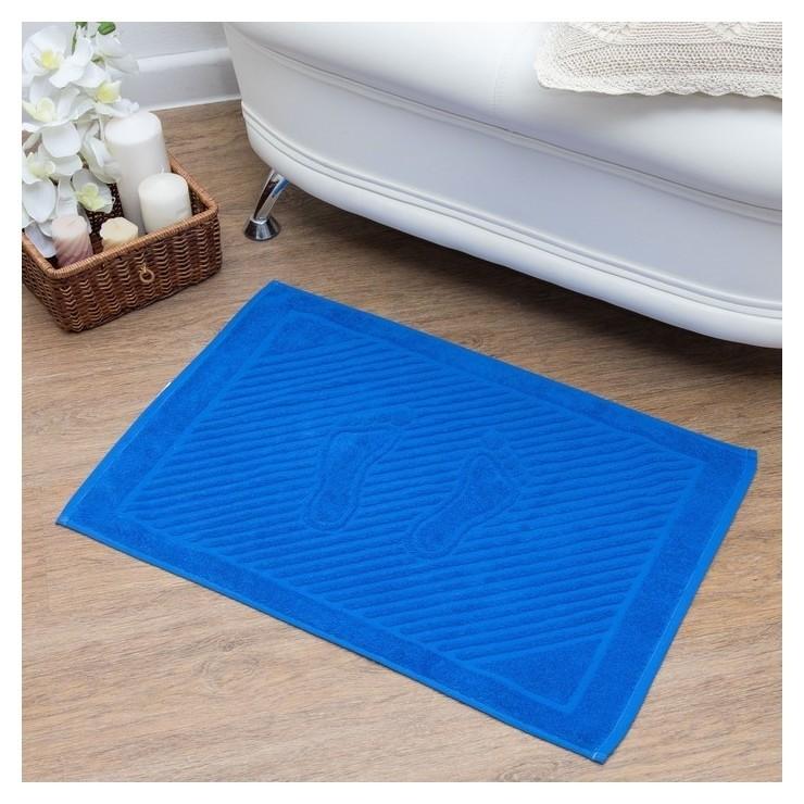 Полотенце для ног 50х70 см, классический синий, 700 гр/м2 NNB