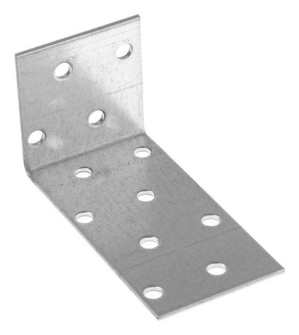 Крепежный анкерный уголок KUL 40х80х40 цинк, 1 шт.  Стройметиз