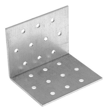 Крепежный уголок равносторонний KUR 60х60х80 цинк, 1 шт.  Стройметиз