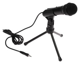 Микрофон Ritmix Rdm-120, 30 дБ, 2.2 ком, разъём 3.5 мм, кабель 1.8 м, черный  Ritmix